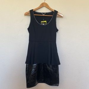 Catherine Melandrino Black Peplum Dress